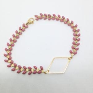 Bracelet épi rose