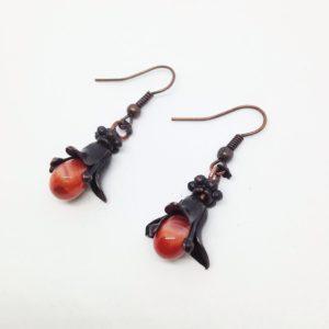 Fleurs de verre (orange) 1