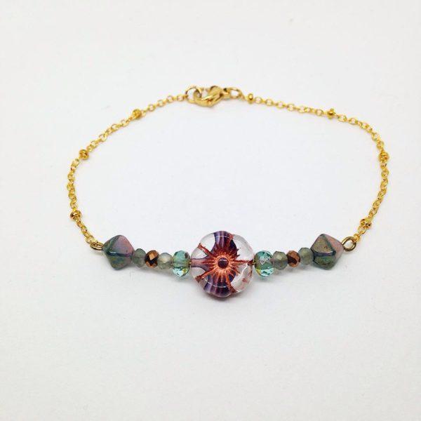 fancy pansy bracelet 1