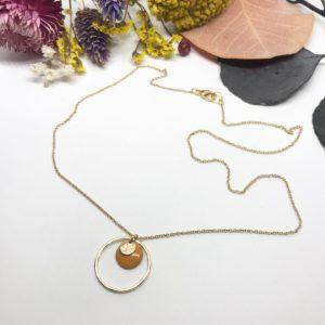 Collier anneau ocre